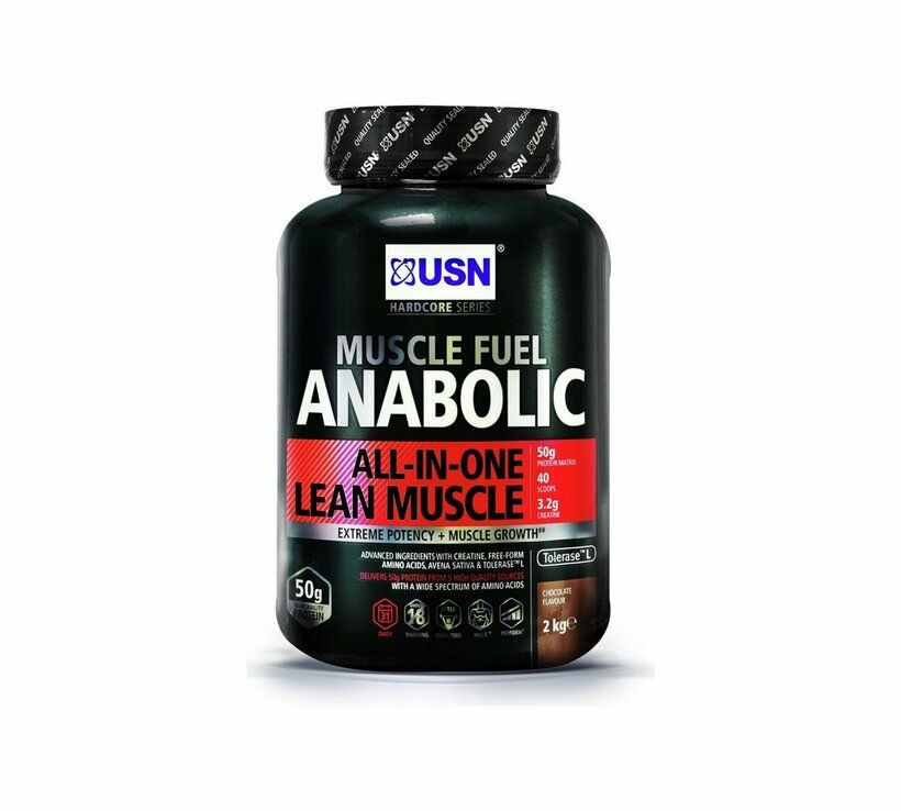 NEW USN 2kg Muscle Fuel Fuel Fuel Anabolic Protein Shake Creatine Amino Acids Chocolate_UK ba2f6c