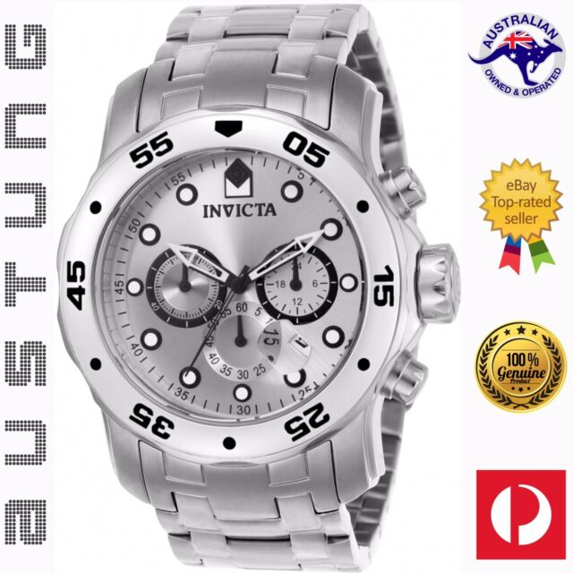 Invicta Men's 0071 Pro Diver Collection Japan Chronograph Stainless Steel Watch