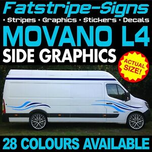 fee74fbcb7 Image is loading VAUXHALL-MOVANO-L4-EXLWB-GRAPHICS-STICKERS-STRIPES-DECALS-