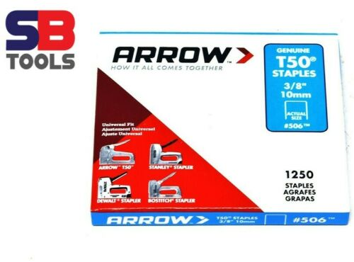 12 mm ARROW T50 discontinues divers taille ARROW Staples Pack Staples 14 mm 10 mm