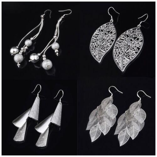 Stud Earrings Jewelry New Women/'s Silver Color Vintage Fashion Dangle Earrings
