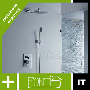Modern design bello set doccia vert soffione rubinetto miscelatore da incasso ebay - Soffione doccia da incasso ...