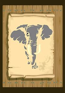 African-Elephant-walking-towards-Stencil-350-micron-Mylar-not-thin-stuff-Ele01a