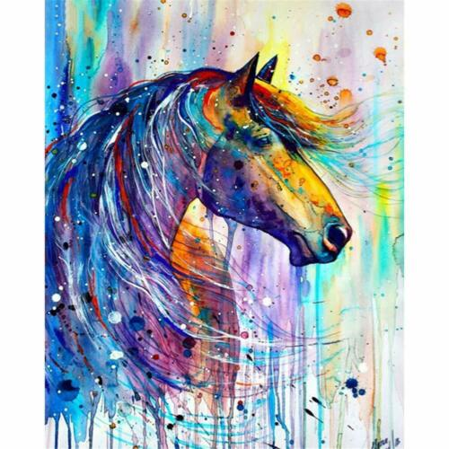 Art Horse Full Drill DIY 5D Diamond Painting Cross Stitch Kits Embroidery Decor