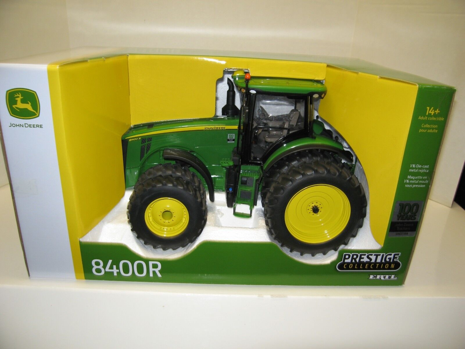 1 16 John Deere 8400R mfwd DUALS PRESTIGE COLLECTION (100YOT) new in box free ship
