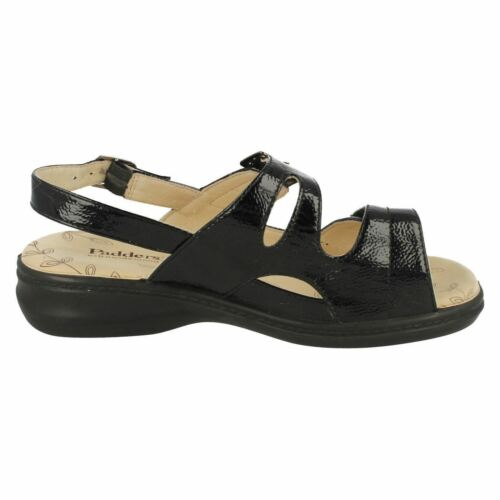 LADIES PADDERS LAURA EXTRA WIDE FIT CASUAL RIPTAPE FASTENING FLAT SANDALS SHOES