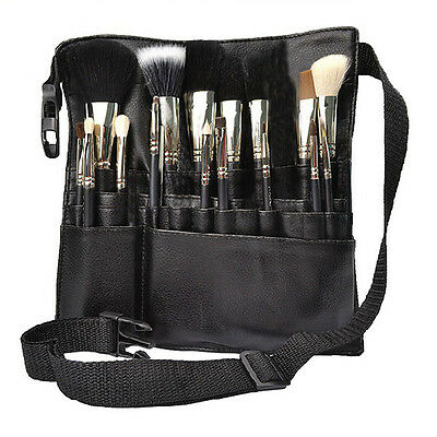 22 Pockets Professional Cosmetic Makeup Brush Apron Bag Artist Belt Strap Holder
