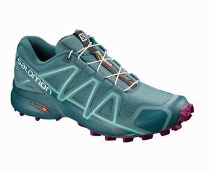 Detalles de Salomon Speedcross 4 GTX W 42 23 Mujer Estelo Running Exterior Zapatos Gore Tex