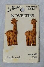 Choice JHB Hand Painted Carded Le Bouton + Wooden Novelty Buttons Animals