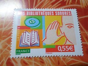 FRANCE-2008-timbre-4160-BIBLIOTEQUES-SONORES-neuf-MNH-STAMP