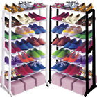 21 Pair Shoe Rack Shelf Organiser 7 Tier Stand Cupboard Shoes Boots Storage