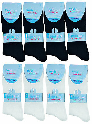 Rational 12 Pairs Men`s Women Ladies Non Elastic Lycra Cotton Casual Easy Grip Socks