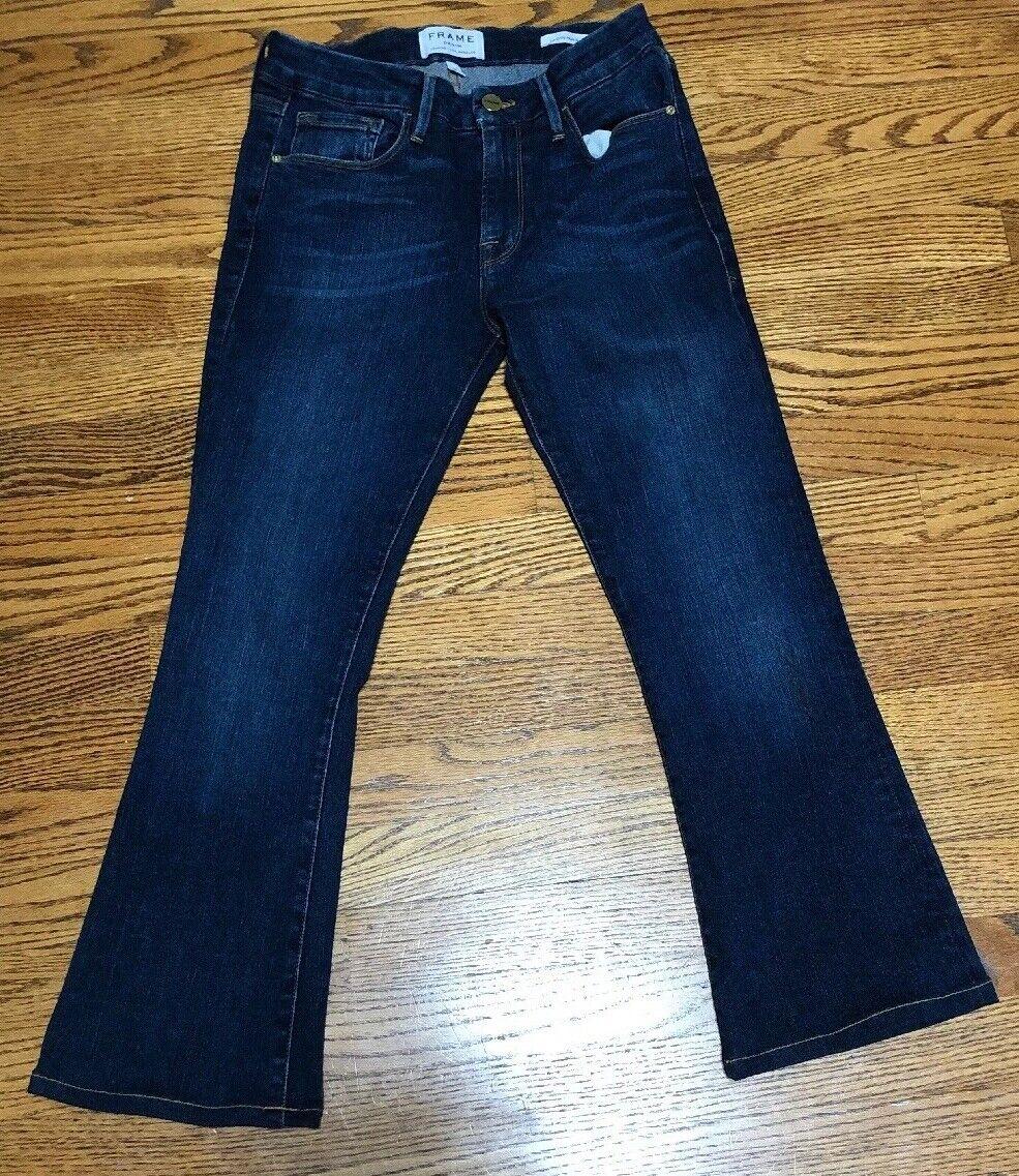 Womens Frame denim Le Crop Mini Boot Jeans 26 Medium Wash NWOT Retail