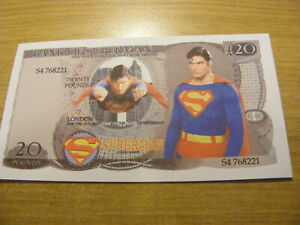 A Bank of Superman 20 Pounds Note-very nice condition