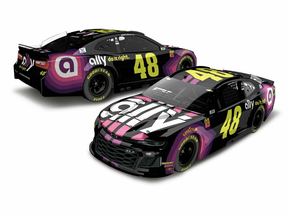 IN NOW  2019 JIMMIE JOHNSON ALLY FINANCIAL 1 24 ACTION LIONEL DIECAST