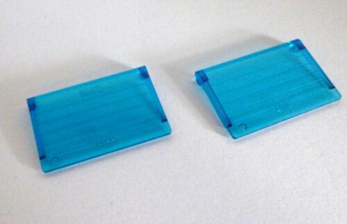 2 x LEGO® 2348 System,Fenster Einsatz blau transparent gebraucht wie Foto.