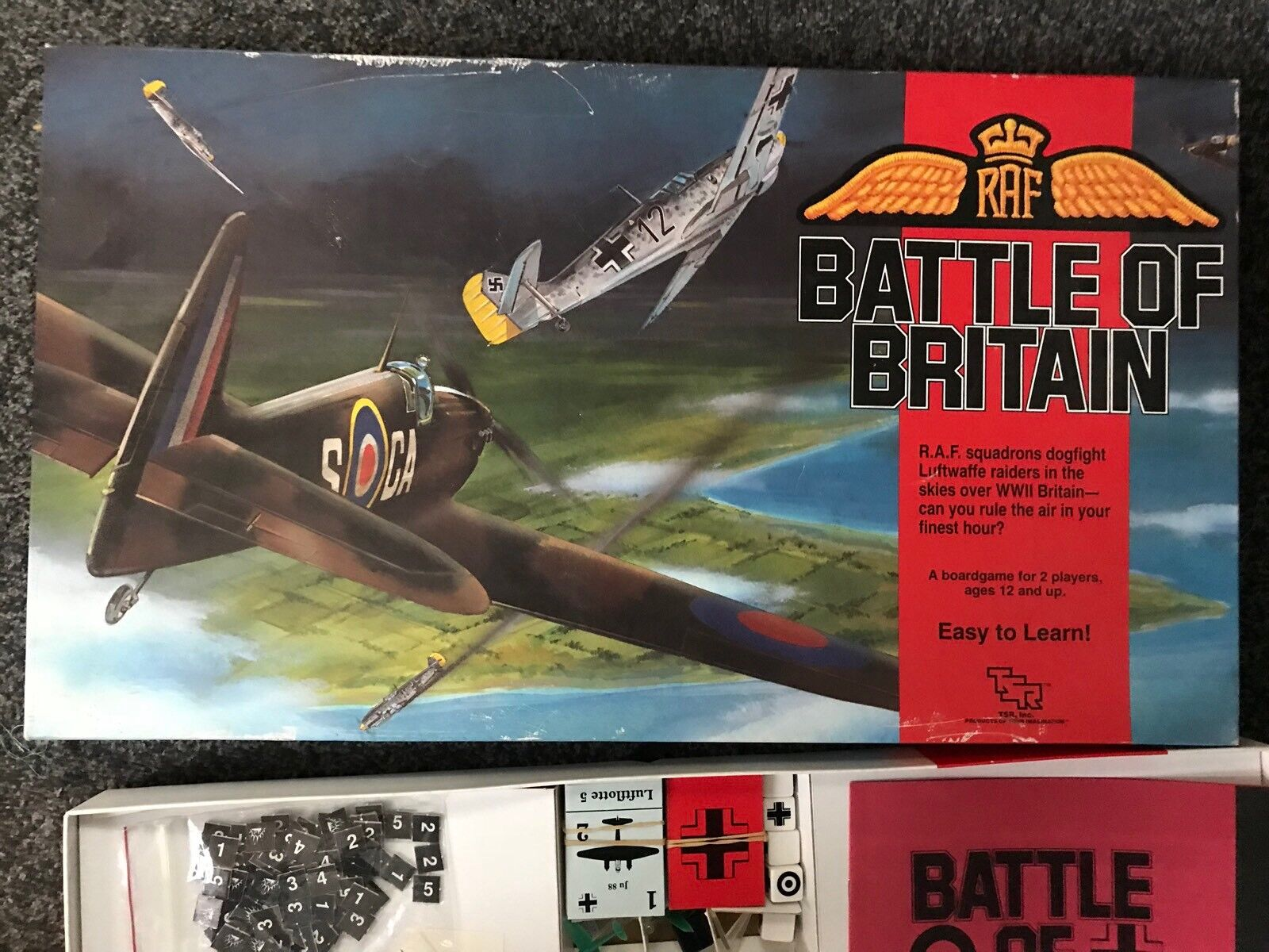 Vintage Battle of Britain Game by TSR 1990 Strategy Board Game 100% Complete
