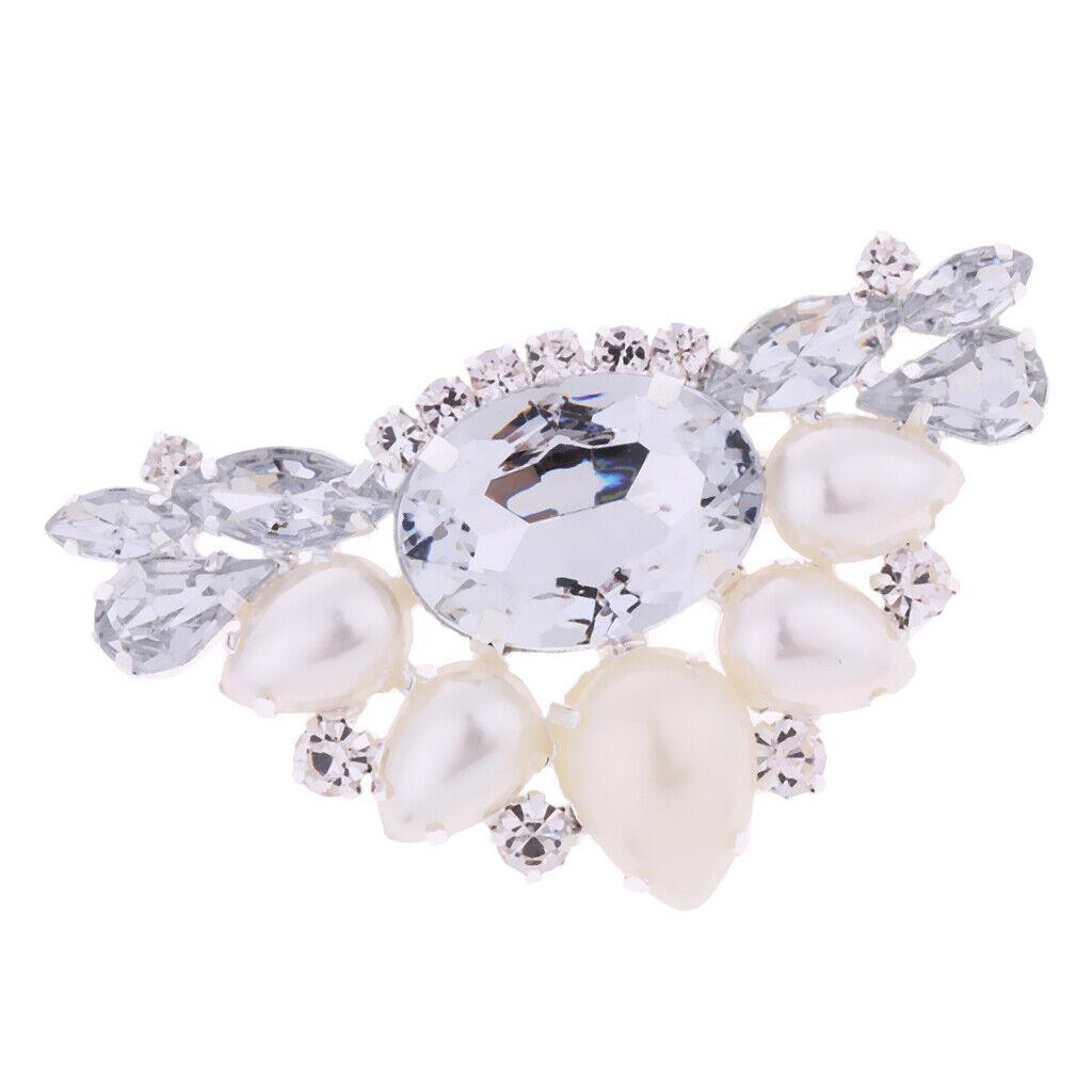 Bridal Diamante Crystal Rhinestone Crystal Wedding Shoe Clips Brooch Charms