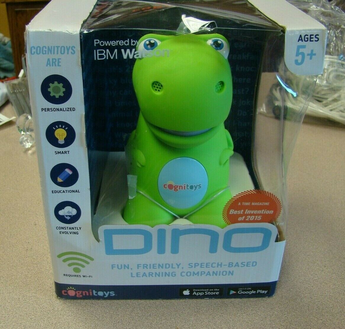 CogniToys Dino Educational Smart Toy Powerot By IBM Watson New
