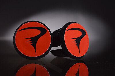 Bar End Caps endcaps black new Pinarello old logo blue Handlebar End Plugs
