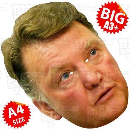 LOUIS VAN GAAL BIG Face Mask A3 or Life-size UTD MANCHESTER MOURINHO LVG