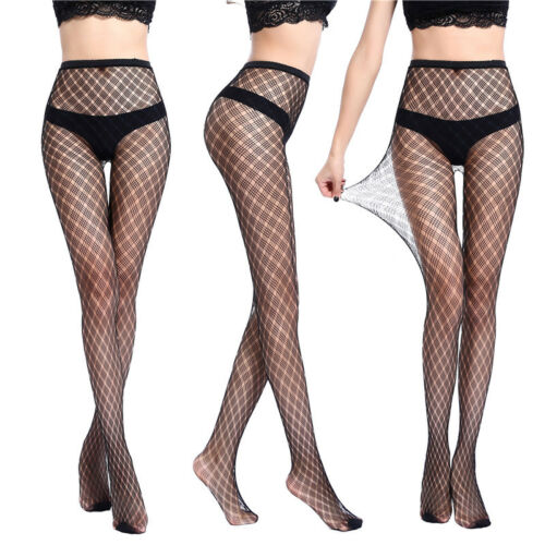 Women/'s Black Lace Fishnet Hollow Patterned Pantyhose Tights Stocking Lingerie