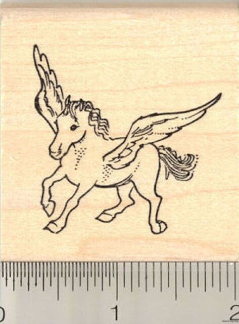 Pegasus unicorn rubber stamp G10705 WM