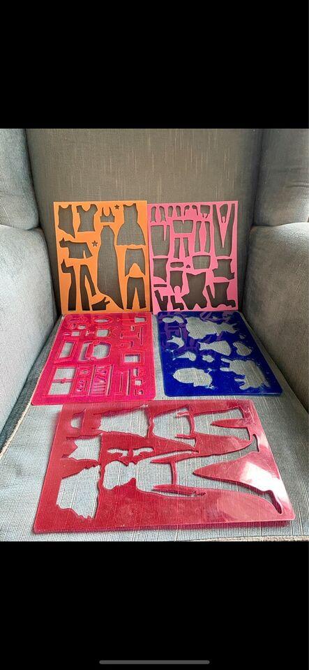 Tegne/male, Påklædningsdukke , Stencils