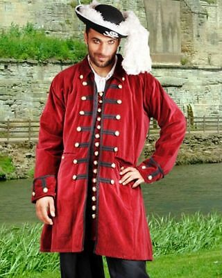 Renaissance Gothic Pirate Medieval Costume Men Coat ToBeAPirate.com