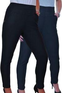 (1551) High Rise Stretch Leggings Trousers Side Pockest Detail 14-20 Eine Hohe Bewunderung Gewinnen