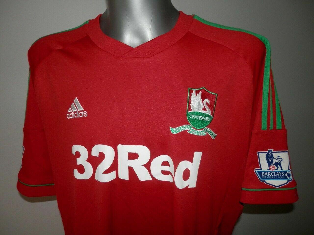 Rare 2012-13 FC Swansea City Centenary Away Football Shirt Soccer Größe - 2XL XXL