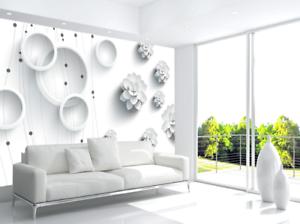 3D Art Flowers Rings 8 Wall Paper Murals Wall Print Wall Wallpaper Mural AU Kyra