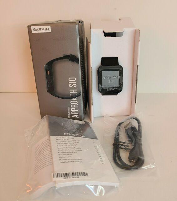 Garmin Approach S10 Lightweight GPS Golf Watch New Open Box Black