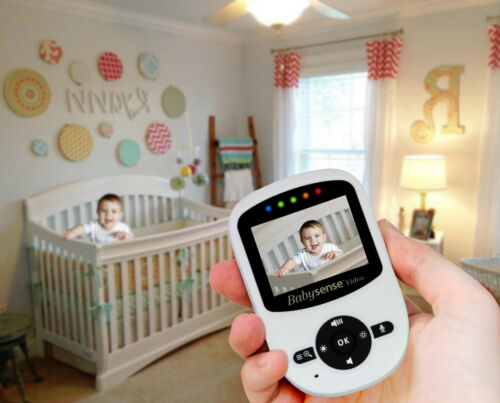 Babysense Video Baby Monitor w//LCD Night Vision Talk Back Temperature Lullabies