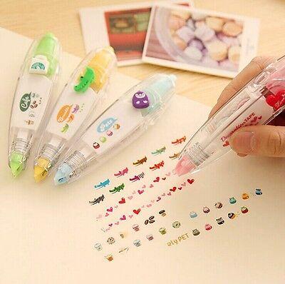 5x Cartoon Lace Roller Push Modified Correction Tape Stationery Kids Gift Kawaii