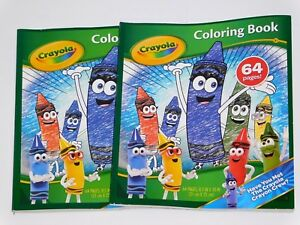 Details about CRAYOLA 64 Page Crayon Crew Coloring Book - Lot of 2 Coloring  Books