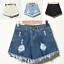 UK-Vintage-Ripped-Womens-High-Waist-Stonewash-Denim-Shorts-Jeans-Hot-Pants-6-22 thumbnail 3