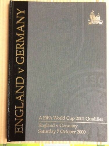 England V Germany 2000 Official Wembley Limited Edition Hardback issue