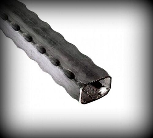 Profilrohr 30x10 mm gehämmert 2000 mm Vierkantrohr Tor Schmiedeeisen 21-113-2