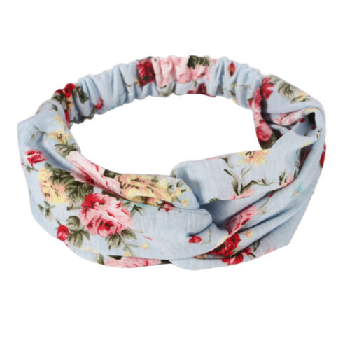 Yoga Elastic Stretchable Floral Hair Band Headband Turban Twisted Knotted