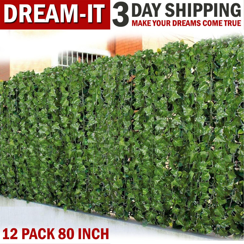 2M Artificial Hanging Plant LED Light Ivy Vine Garland Fake Home Garden Decor