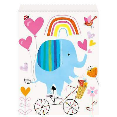 8 Party Loot Bags Baby Shower Unisex Cute Zoo Animals