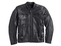Harley Davidson Men's Drauger Willie Skull Black Leather Jacket 3xl 97194-14vm