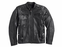 Harley Davidson Men's Drauger Willie Skull Black Leather Jacket M 97194-14vm