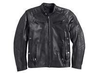 Harley Davidson Men's Drauger Willie Skull Black Leather Jacket M 97194-14vm