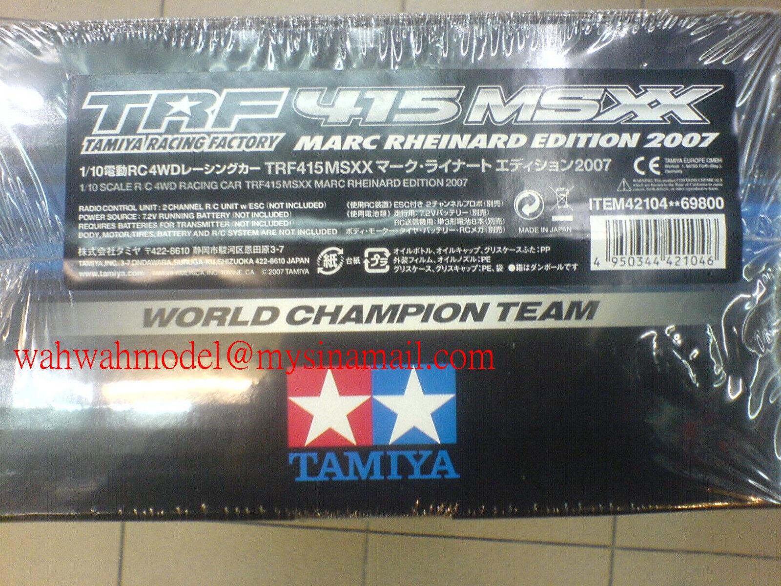 Tamiya 42104 1/10 RC TRF415 MSXX - Marc Rheinard Edition 2007