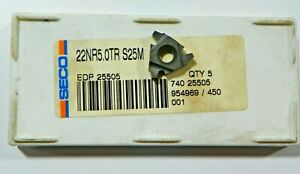 5-PIECES-SECO-22NR-5-0TR-S25M-CARBIDE-INSERTS-H507