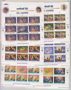 B8148 : (6) Un # 688-9, Genève # 294-5, Vienne #210-11; Cv