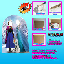DISNEY FROZEN STAND IN CHILDS SIZE  ANNA, ELSA AND OLAF SC761 CARDBOARD CUTOUT