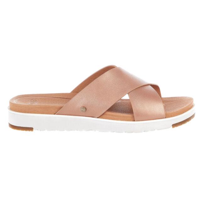 028b66b42ac UGG Australia Kari Metallic Rose Gold Sandals Womens Size 10 **